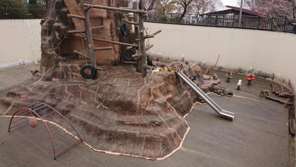 桐生ヶ丘動物園のサル山
